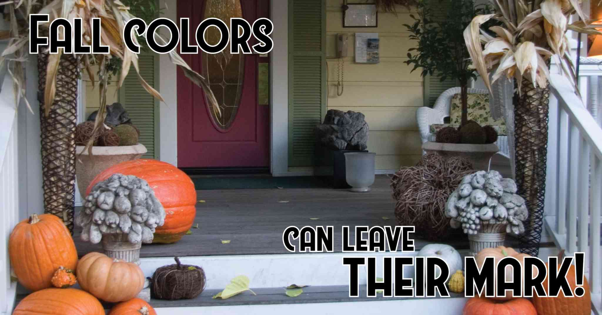 Pumpkins, Leaves, & Stains