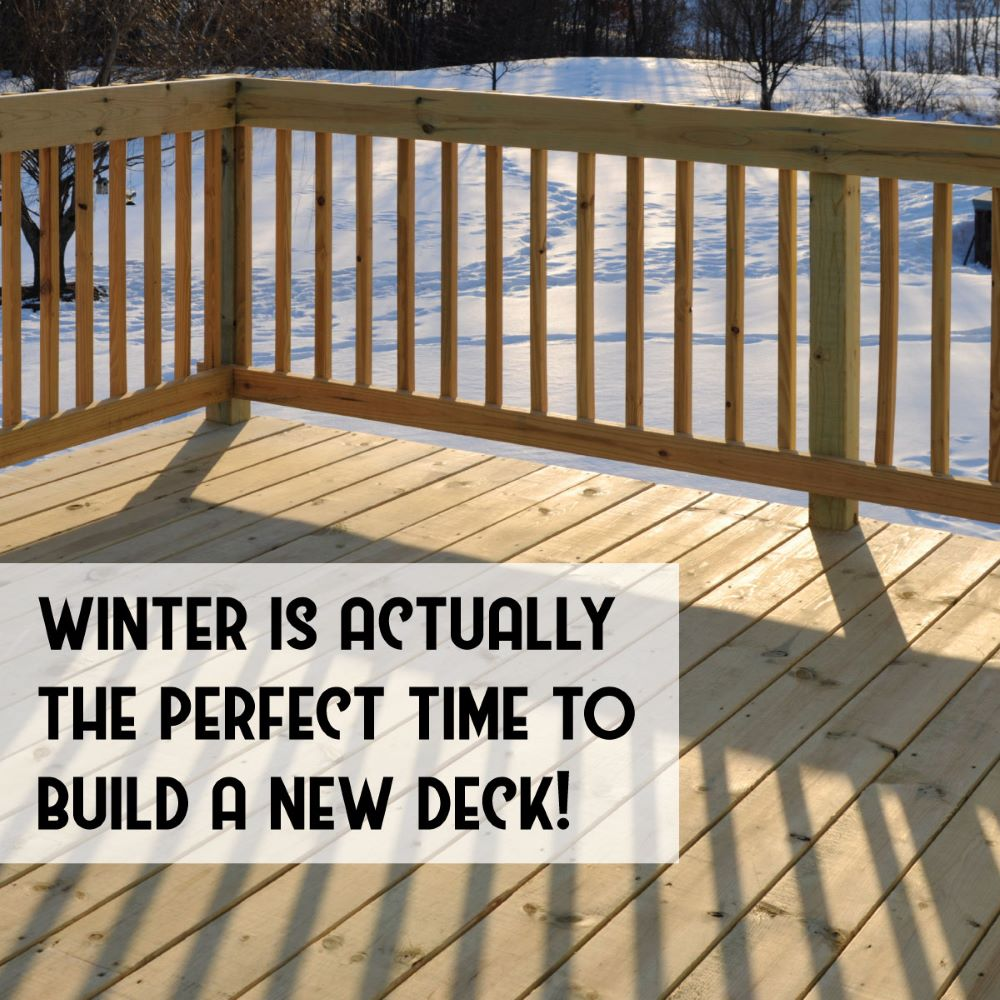 Building a Deck in the Winter